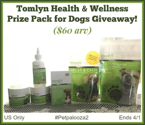 Health Giveaways - win a tomlyn health wellness prize pack for dogs 60 arv us only ends 4 1 miss