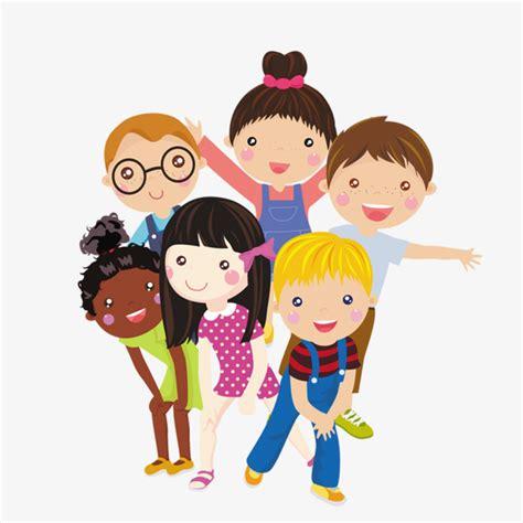 imagenes de ni os jugando en grupo para colorear group of children cartoon characters children png image