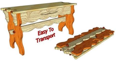 knock down shooting bench plans knock down gothic bench 103 3d woodworking plans3d