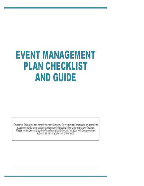 event management template event management plan checklist and guide free