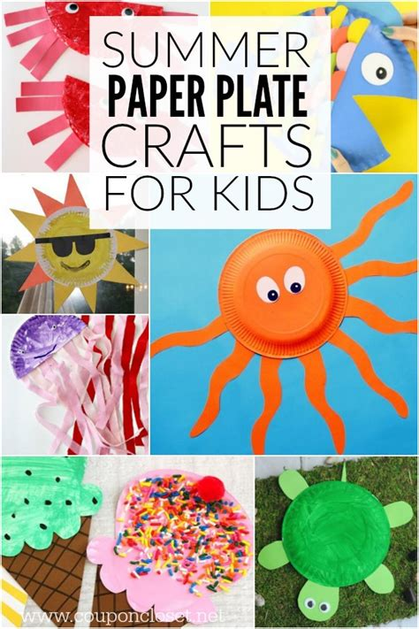 Summer Paper Crafts - easy summer paper plate crafts for plates make great