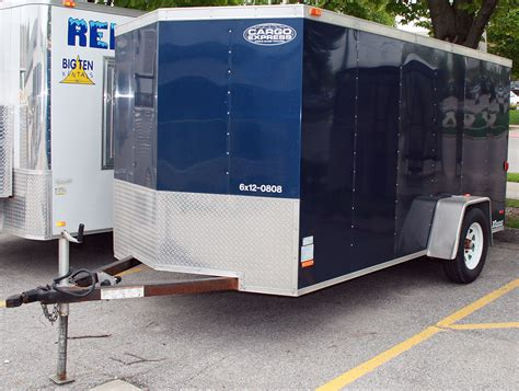 blue trailer blue 6 x12 enclosed cargo utility trailer rental ic cr