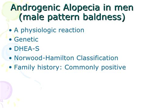 male pattern baldness test alopecia