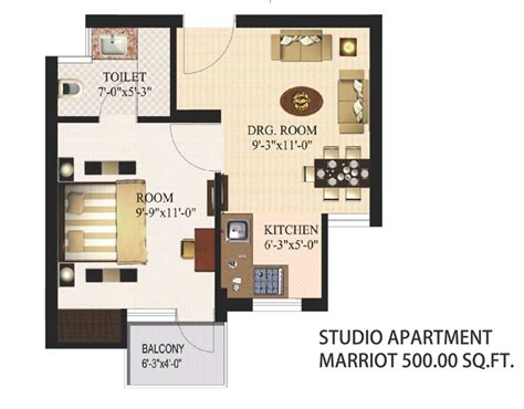 floor plan for 500 sq ft apartment urbtech xaviers new property in noida