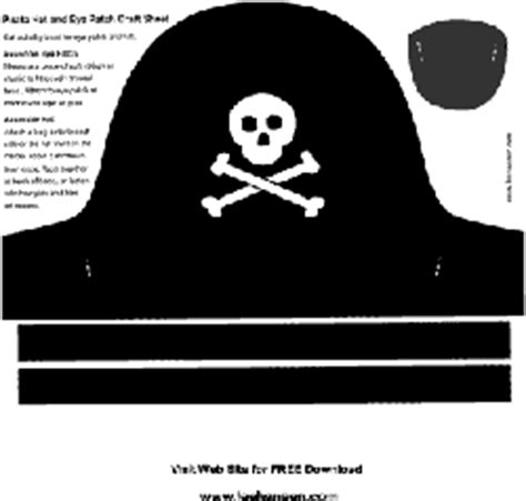 diy pirate hat template quot go walk the plank quot a pirate go fish
