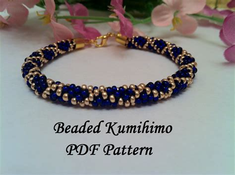 beaded kumihimo patterns beaded kumihimo pdf pattern tutorial bracelet necklace grid