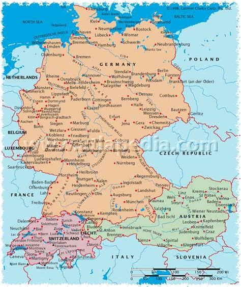map of switzerland and germany with cities map austria germany switzerland