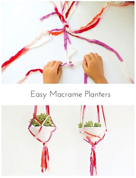 Easy Macrame Projects For - make easy macrame planters with a way to