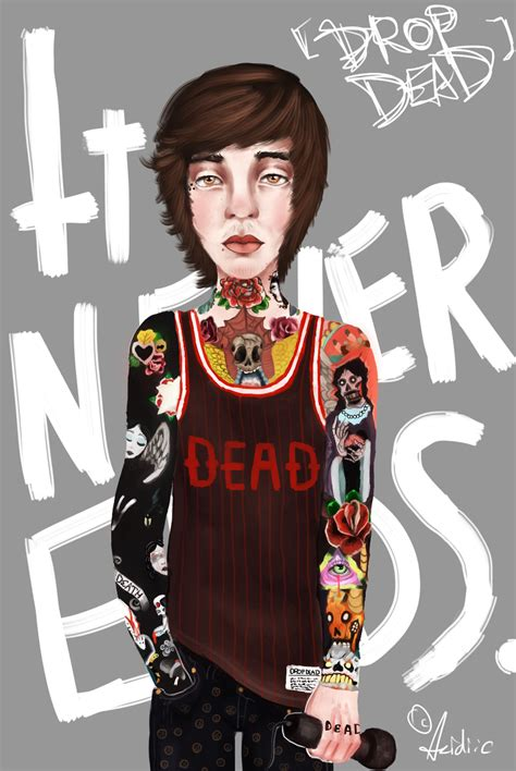 oliver sykes by acidiic on deviantart