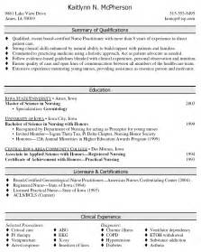 Best Resume Examples For Nurses