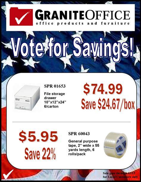 granite office supplies vote for savings sale by granite