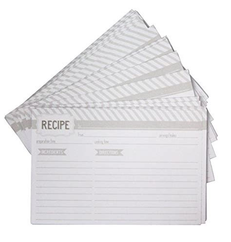 Refill Amazon Gift Card - eccolo recipe keeper refill cards 4 by 6 inch 100 pack