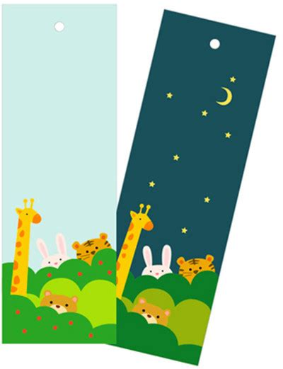 printable animal bookmarks day and night animal bookmarks allfreepapercrafts com