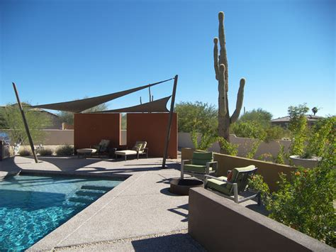 desert back yard contemporary patio phoenix by
