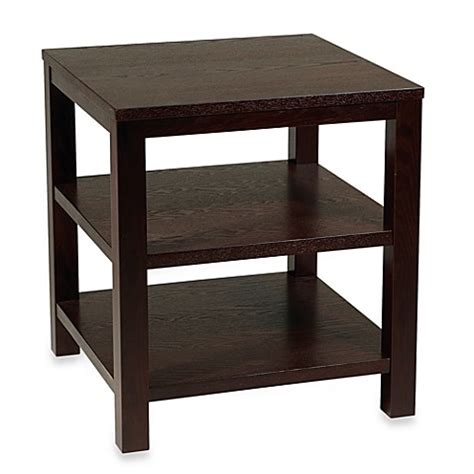 Square Accent Table Avenue Six Merge 20 Inch Square End Table In Espresso Bed Bath Beyond