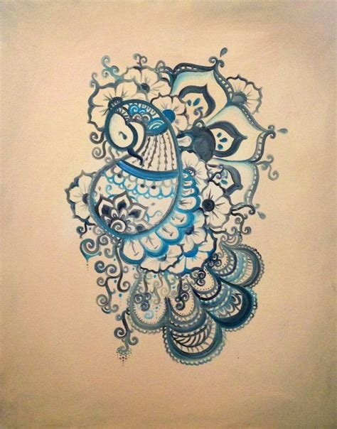 henna peacock tattoo buddhist henna inspired peacock painting beautiful