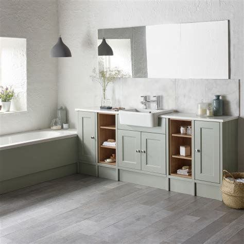 burford pebble grey fitted bathroom furniture roper