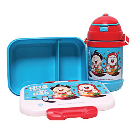afrakids lunch box and bottle set botol dan tempat makan