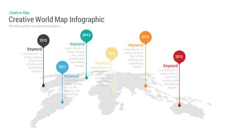 Creative World Map With Bubbles Powerpoint Keynote Template Slidebazaar World Map Powerpoint Template
