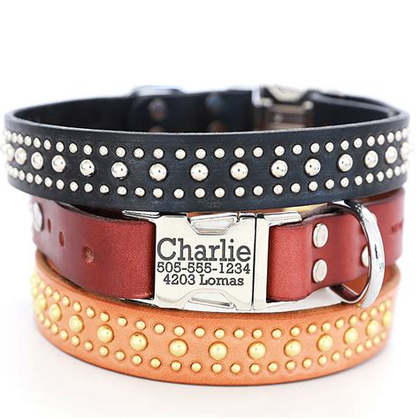 personalized puppy collars personalized leather collar the bart