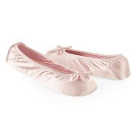 ballet house slippers ladies isotoner light pink satin stretch ballet style house slippers ebay