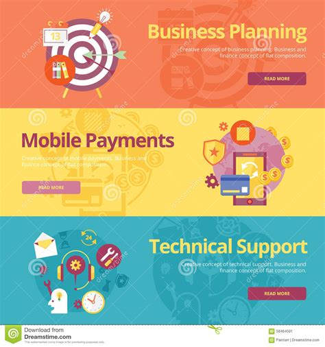 basics design print and 2940373426 set of flat design concepts for business planning mobile payments technical support stock