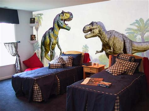 dinosaur bedrooms wall mural inspiration ideas for little boys rooms