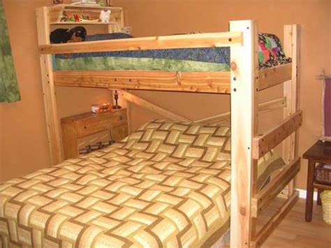 bunk bed full over queen bunk bed plans full over queen pdf plans fine woodworking