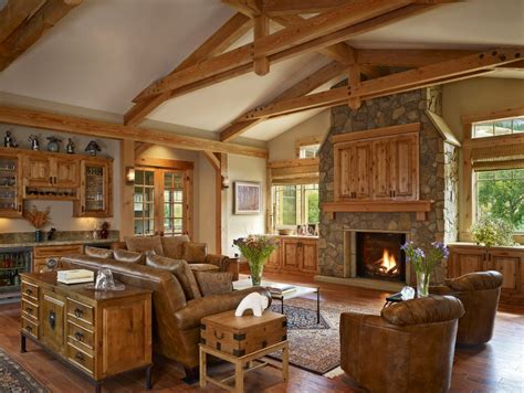 bolted timber truss family room traditional with stacked