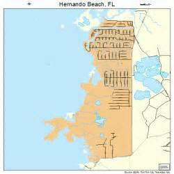 Hernando Florida Map by Hernando Beach Florida Street Map 1229437