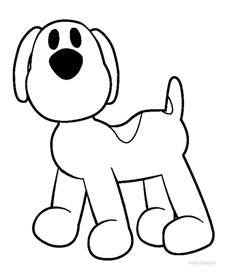 printable pocoyo coloring pages kids cool2bkids