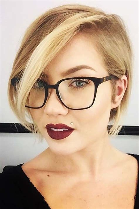 hairstyles for round face with glasses how to choose glasses for short hair and round face shape