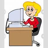 Cartoon Secretary Stock Vector Clipart Cartoon Secretary On White