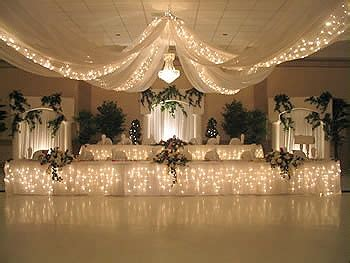 drapes and lights for weddings wedding ceiling drapes with lights event decor direct