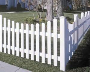 picket fences vinyl picket fence concave avinylfence