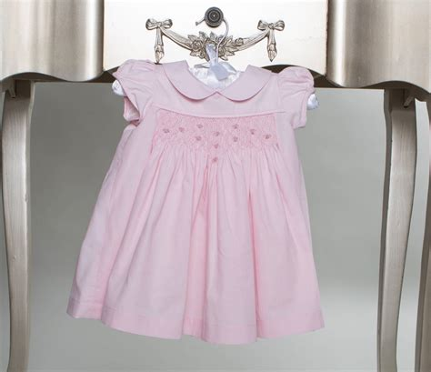 Handmade Smocked Dresses - smocked pink roses dress by sue hill