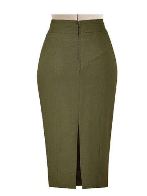 pencil skirt with side split elizabeth s custom skirts