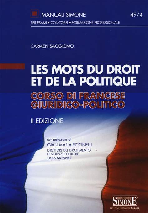 libro le mot et lide libro les mots du droit et de la politique corso
