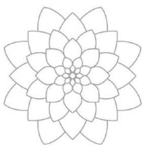 imagenes de flores faciles dibujos de flores para colorear a lapiz pintar y bordar