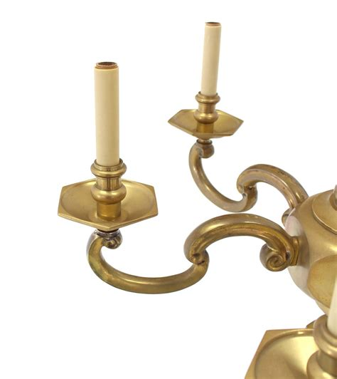 Solid Brass Light Fixtures Heavy Solid Brass Light Fixture By Chapman For Sale At 1stdibs
