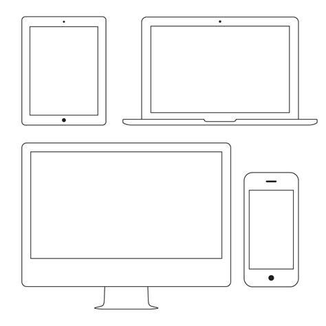 novel template for apple pages vector outline apple devices designhooks