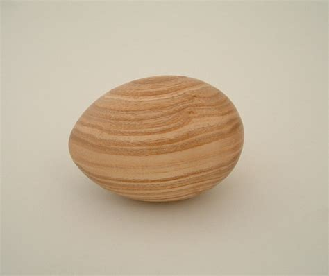 Handmade Products Uk - turned wooden egg by stephen broadley burford