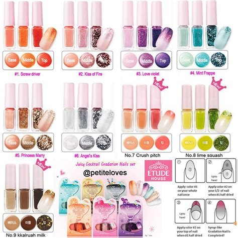 Etude House Forest Nail etude house cocktail gradation nails