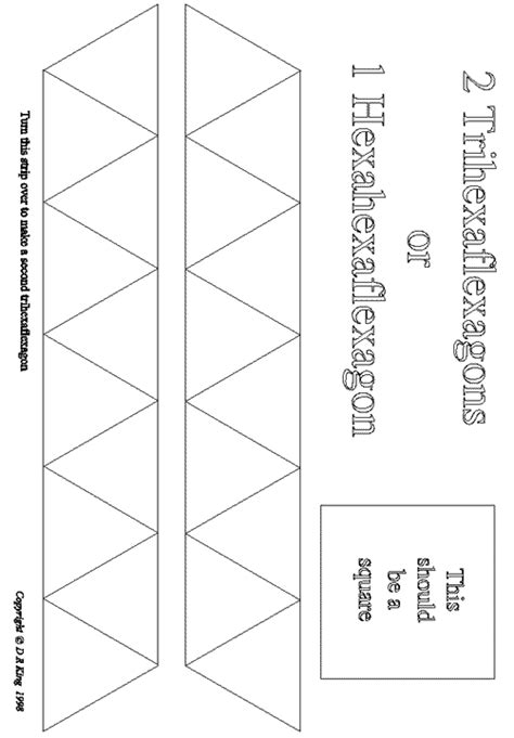 hexaflexagon template printable marcia s science teaching 11 04 08