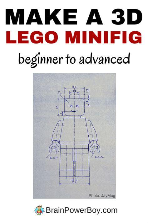 lego tutorial how to make your own brickfilm make a 3d lego minifig brain power boy