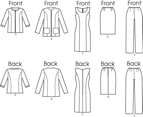 pattern lab review butterick 5719 misses women s jacket dress skirt and pants