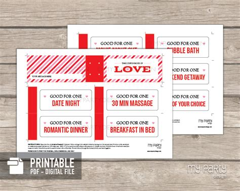 printable love coupons pdf house warming party invitations book covers