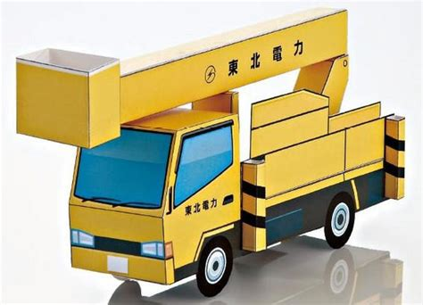 paper truck papercraftsquare com new paper craft simple hydraulic