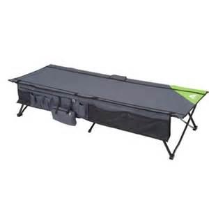 ozark trail instant cot with side storage sleeps 1