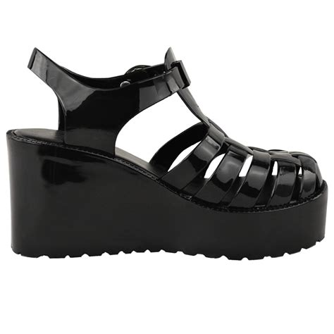 Heel Shoes Jelly womens jelly sandals wedge platform summer high